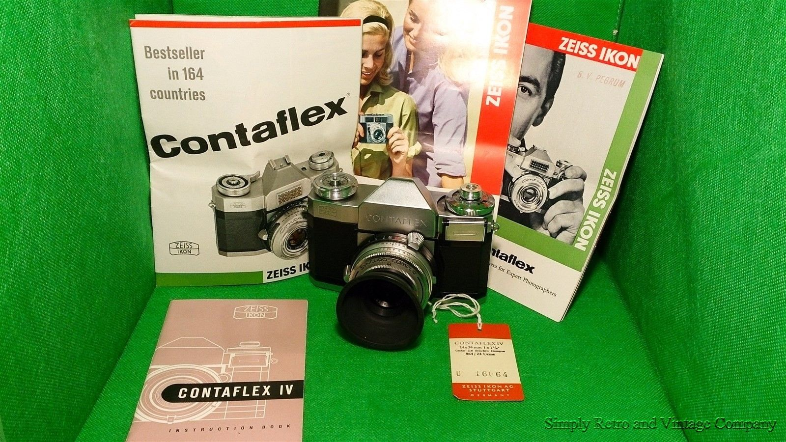 Minty Zeiss Ikon Contaflex 35mm SLR Film Camera with Zeiss Tessar 45mm 2 8  Sold